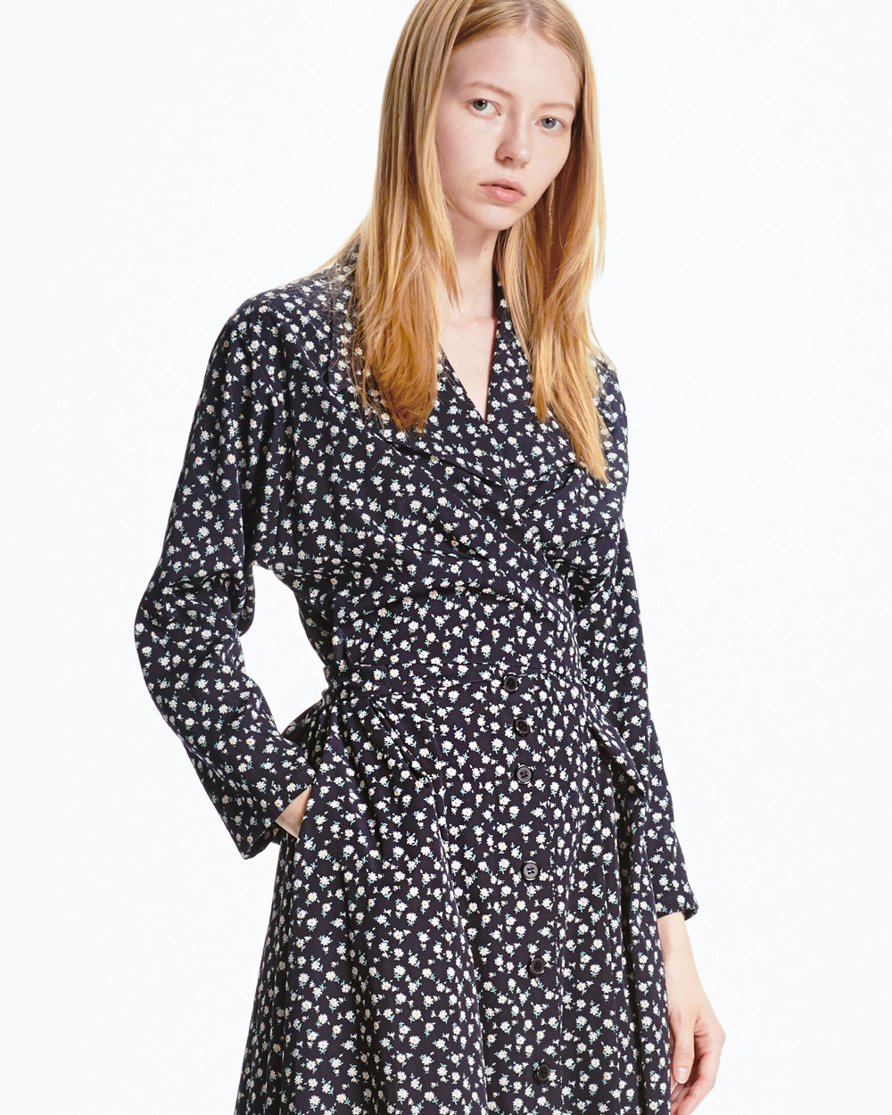 PF20 EASY FLORAL WRAP DRESS