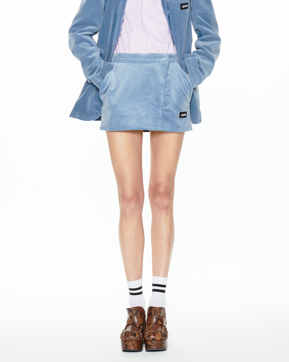 FW20 WTPB CORDUROY MINI SKIRT