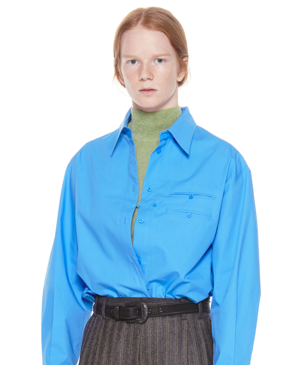 FW20 NECK TIE POCKET SHIRT