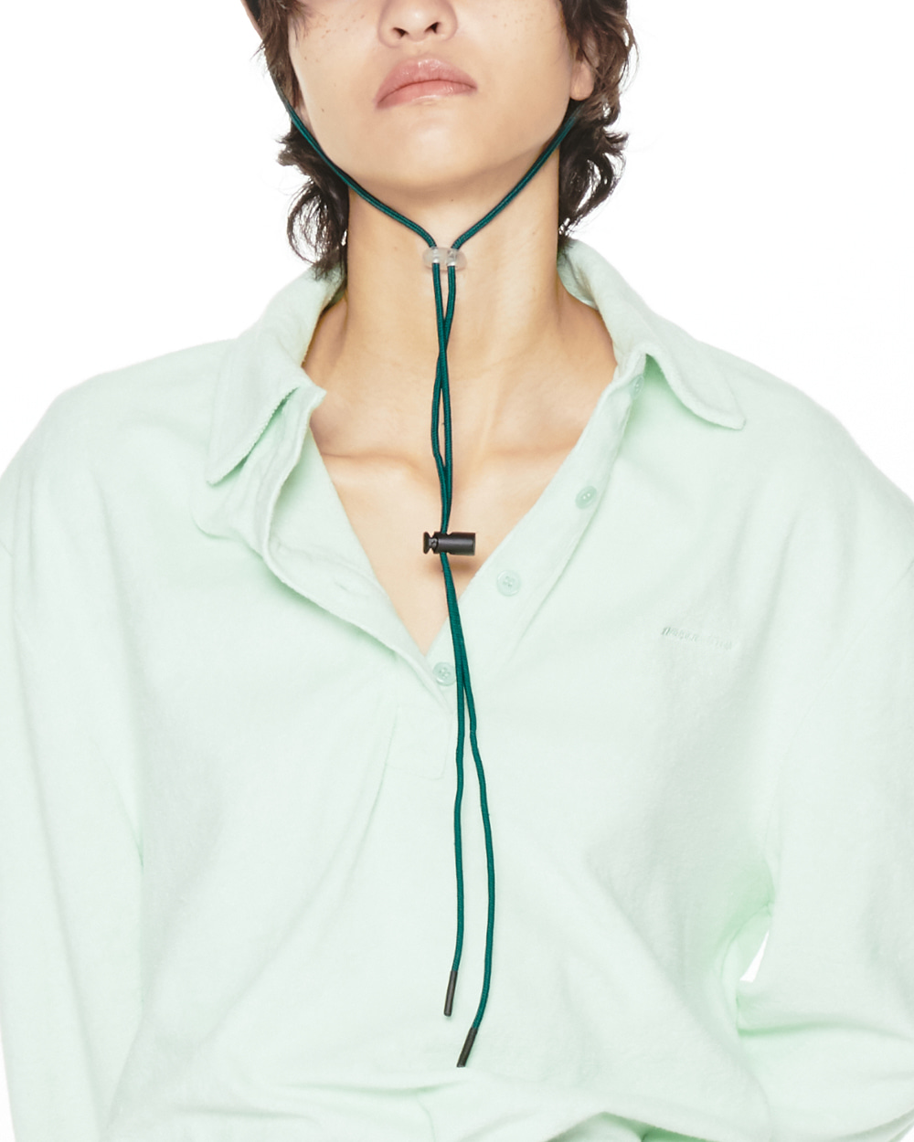 FW20 TERRYCLOTH COLLAR TWIST TOP