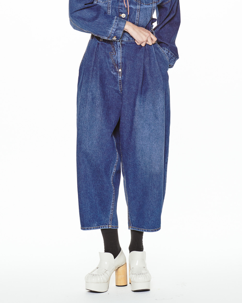 FW20 DENIM SLOUCH PANTS