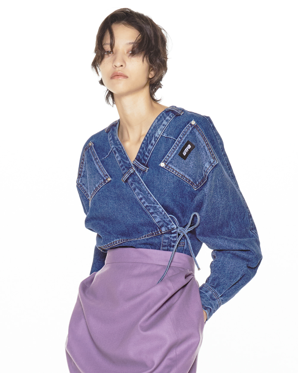 FW20 POCKET ROBE DENIM SHIRT