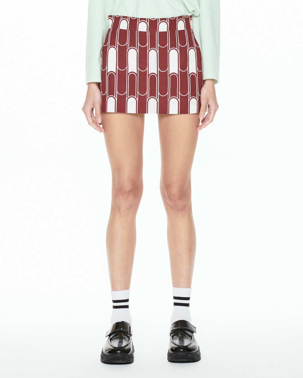 FW20 PRINTED MINI SKIRT