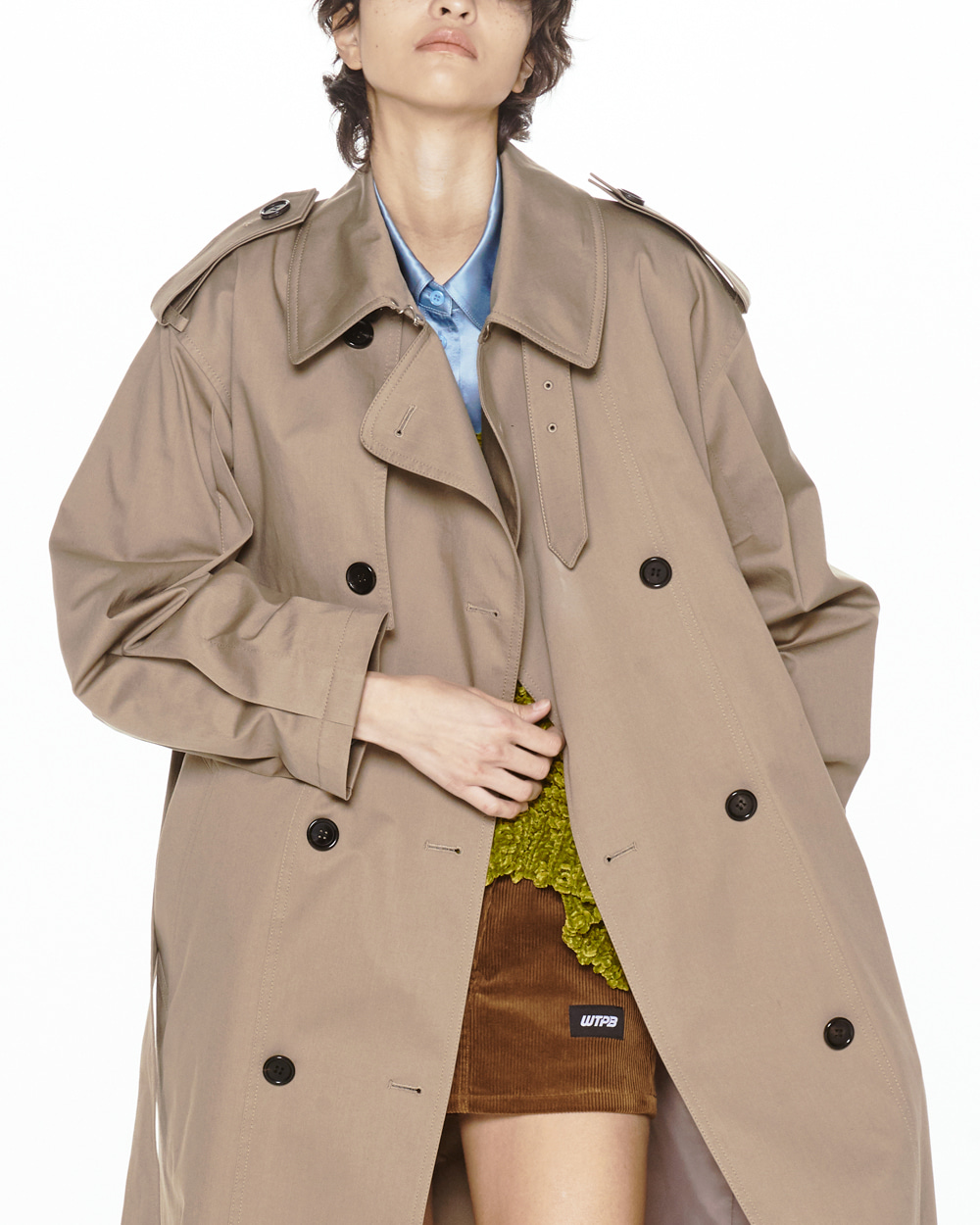 FW20 DOUBLE COTTON TRENCH COAT