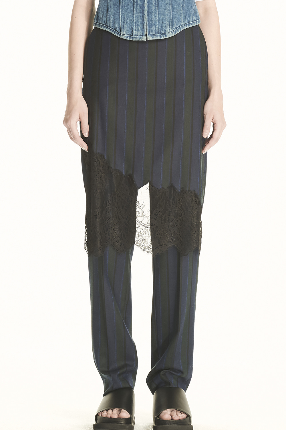 PS21 SKIRT COVERED STRIPE PANTS
