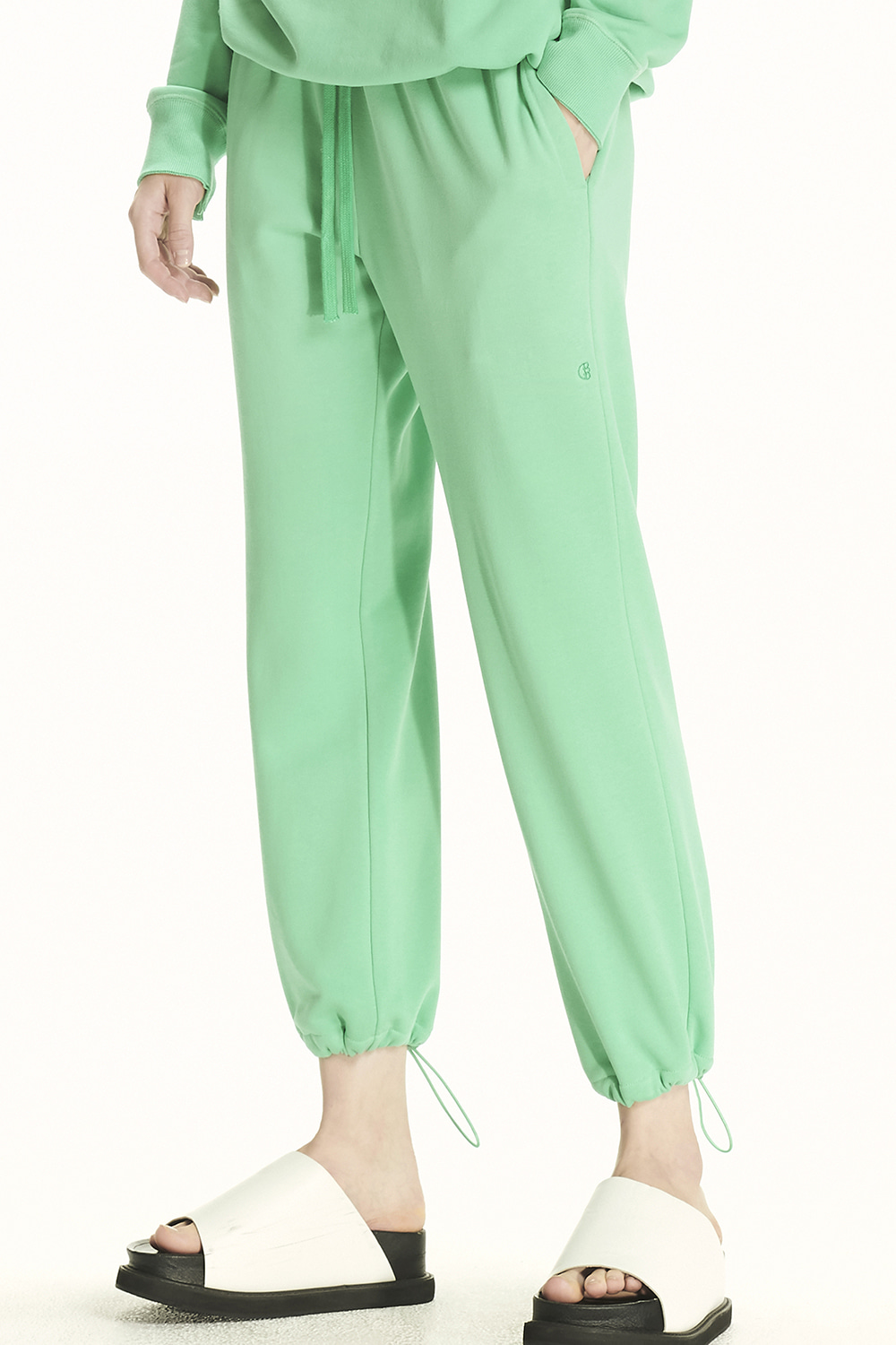 PS21 DRAWSTRING GREEN JOGGER PANTS