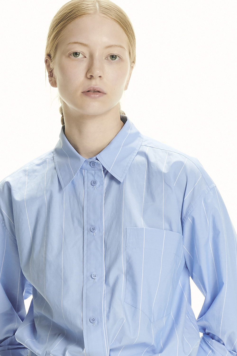 PS21 LAYERED SLEEVE BLUE SHIRT