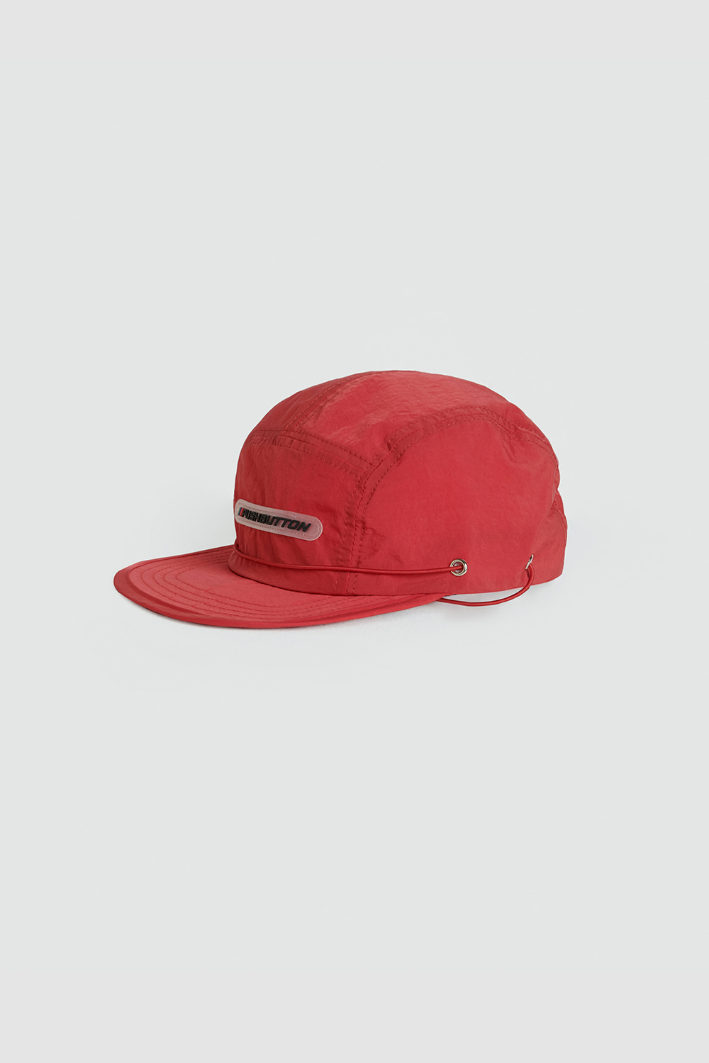 SS21 RUBBER LOGO RED CAP