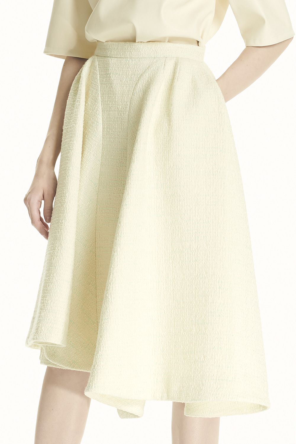 PS21 UNBALANCED PUFF MINT SKIRT