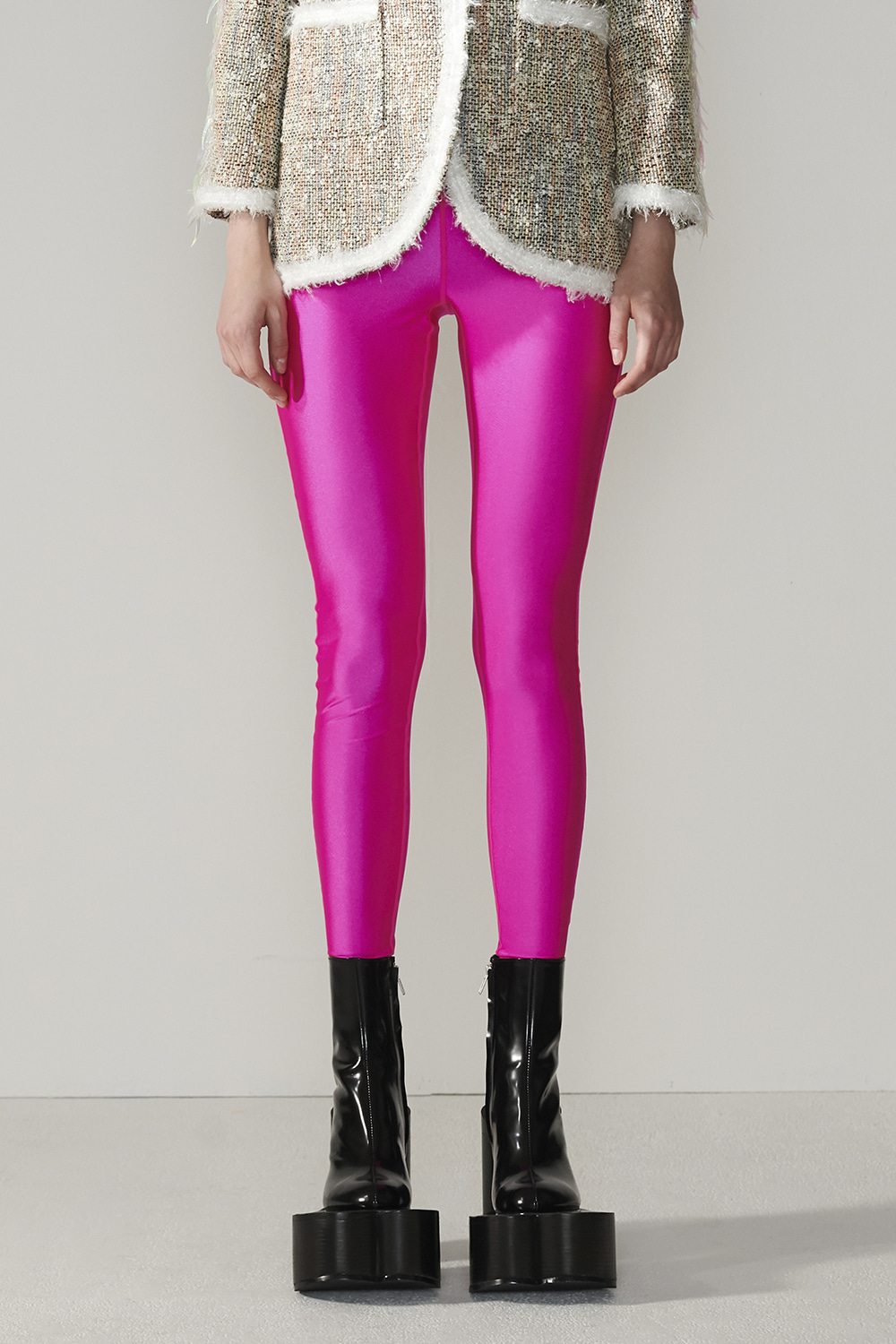 SS21 JEWELLED POINT PINK LEGGINGS