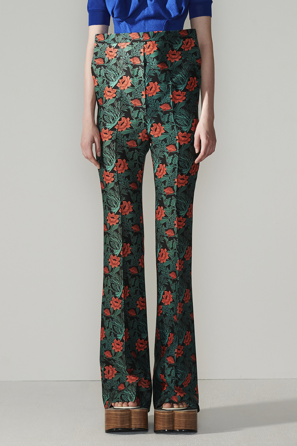 SS21 FRONT-UP BELL BOTTON FLORAL PANTS