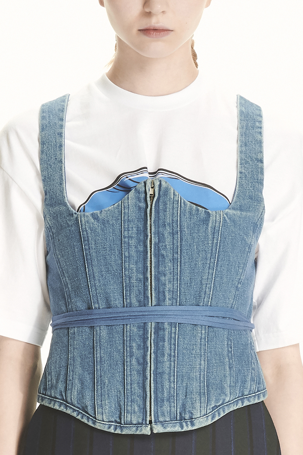 PS21 DENIM BUSTIER TOP