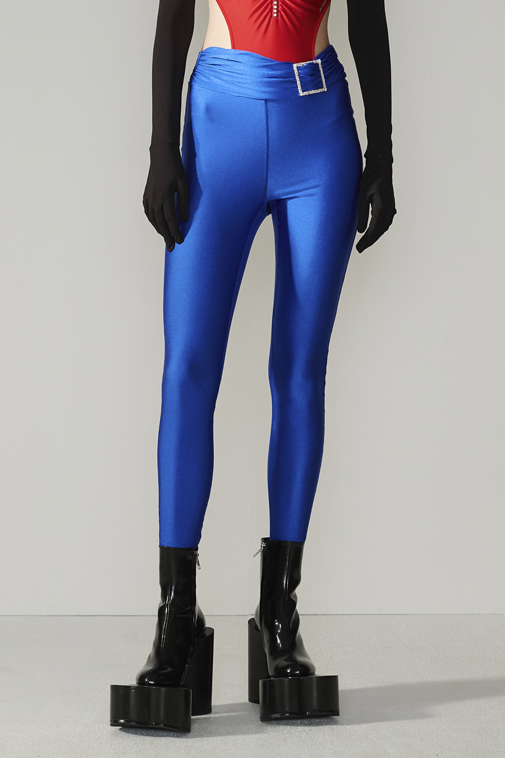 SS21 JEWELLED POINT BLUE LEGGINGS