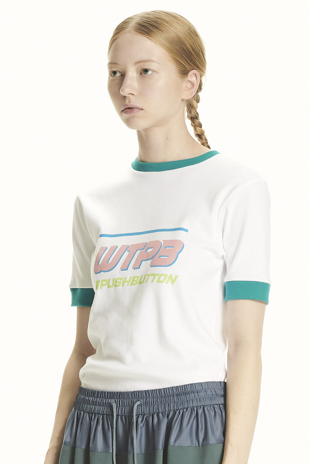 PS21 WTPB GREEN RIBS T-SHIRT