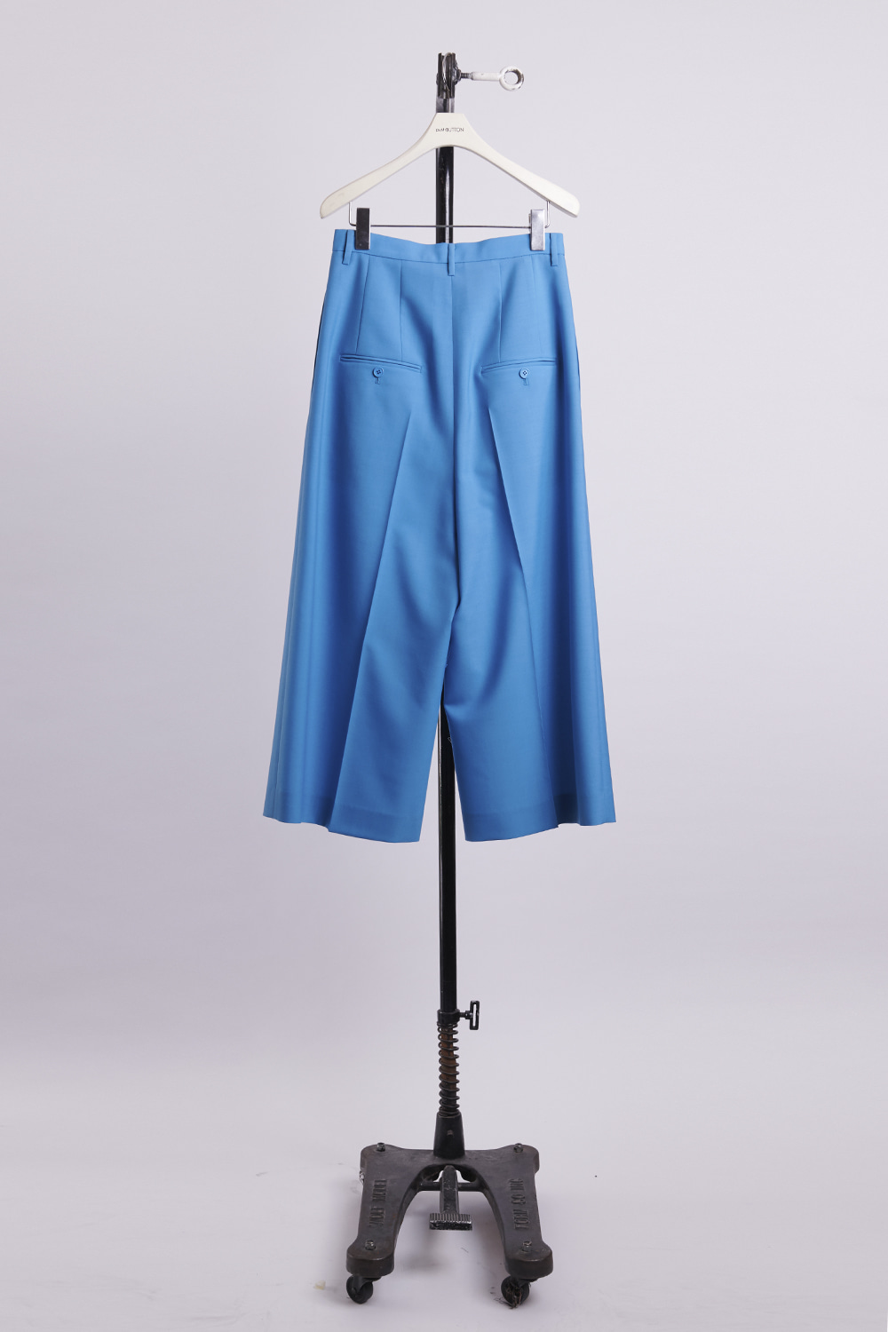 HS21 BLUE TUCK DETAIL WIDE TROUSERS